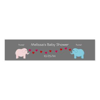 Elephant Themed Twin Boy & Girl Baby Shower Napkin Band
