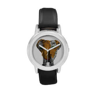 Elephant Tiger Abstract Kid's Stainless Watch
