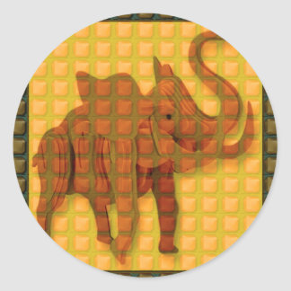 Elephant TILEd GIFTS Discount Event Promo Special Classic Round Sticker