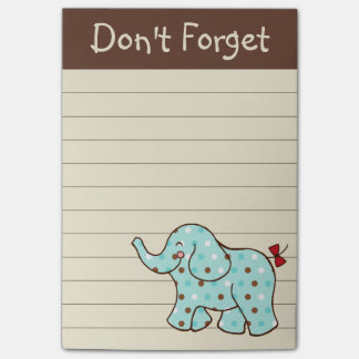 Elephant To Do List Post It Notes