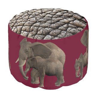 elephant Together Round Pouf