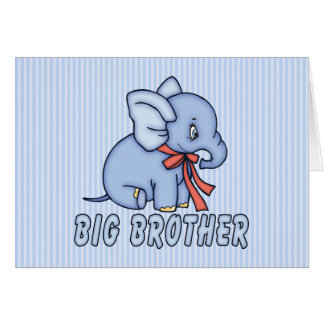 Elephant Toy Big Brother Card