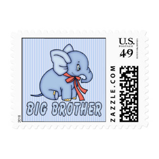 Elephant Toy Big Brother Postage Stamp