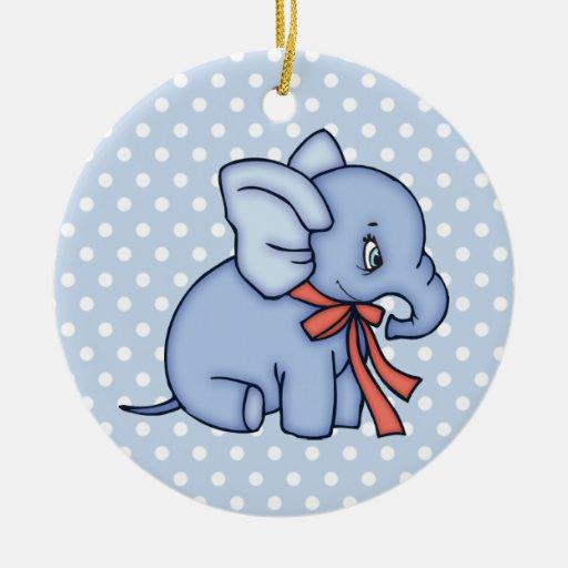 Elephant Toy Blue Christmas Tree Ornament