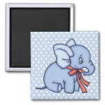 Elephant Toy Blue Refrigerator Magnet