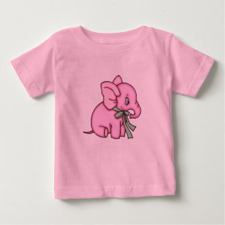 Elephant Toy Pink Baby T-Shirt