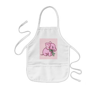Elephant Toy Pink Kids' Apron