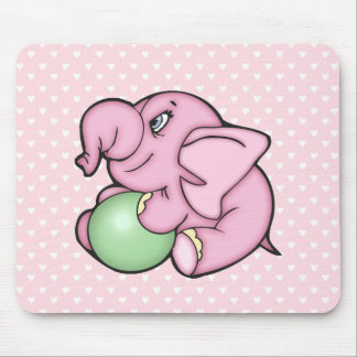 Elephant Toy Pink w/Ball Mouse Pad