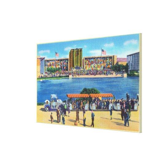 Elephant Train and Federal Bldg, CA Worlds Fair Canvas Print