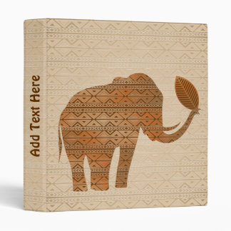 Elephant Tribal Art Design Binder