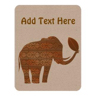 Elephant Tribal Environmental Desert invitations