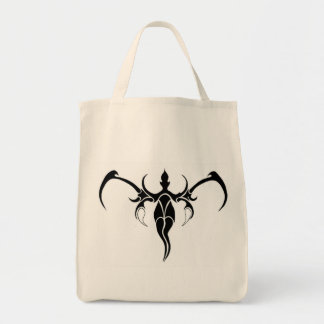 Elephant Tribal Tattoo - black and white Grocery Tote Bag