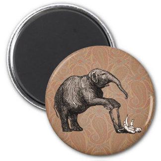 Elephant Tricks - Funny Circus Pachyderm 2 Inch Round Magnet