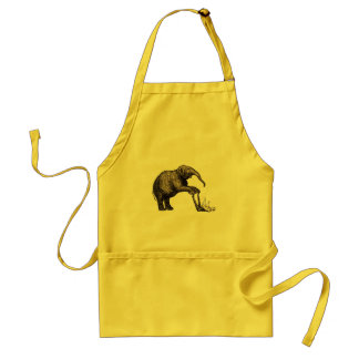 Elephant Tricks - Funny Circus Pachyderm Adult Apron