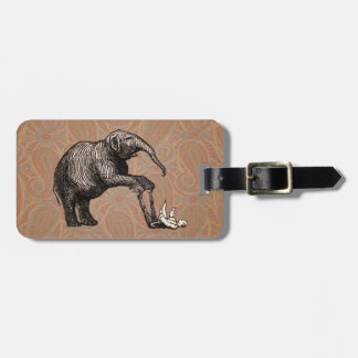 Elephant Tricks - Funny Circus Pachyderm Luggage Tag