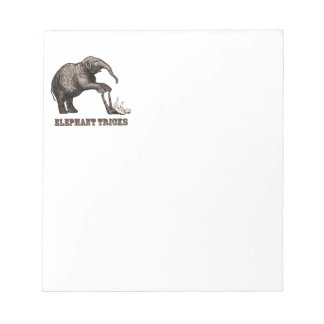 Elephant Tricks - Funny Circus Pachyderm Note Pad