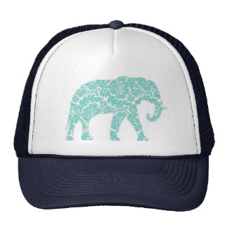 Elephant trucker cap trucker hat