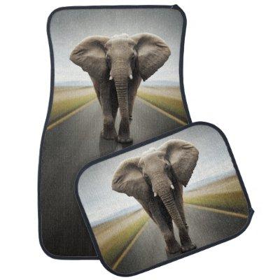 Elephant Trucker Car Mat Full Set