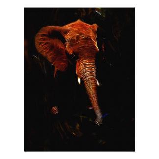 Elephant trunk letterhead