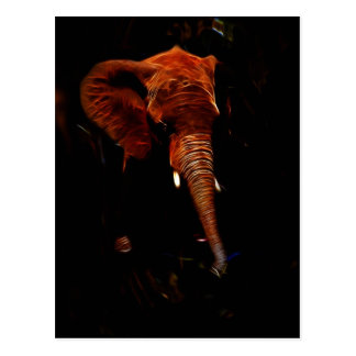 Elephant trunk postcard