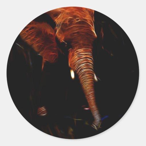Elephant trunk round sticker