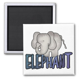 Elephant Tshirts and Gifts 2 Inch Square Magnet