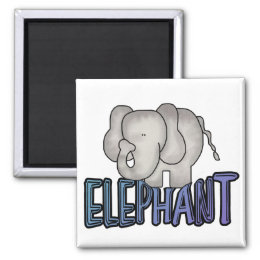 Elephant Tshirts and Gifts Magnet