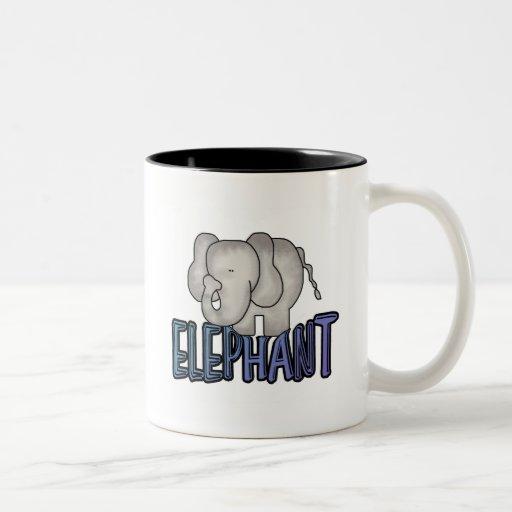Elephant Tshirts and Gifts Two-Tone Coffee Mug