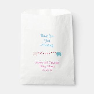Elephant Twin Boy & Girl Favor Bag