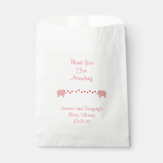 Elephant Twin Girls Favor Bag