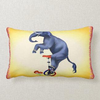 Elephant-Unicycle Lumbar Pillow