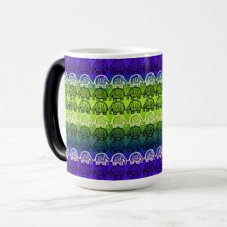 Elephant Unity Lime Light Morphing Mug