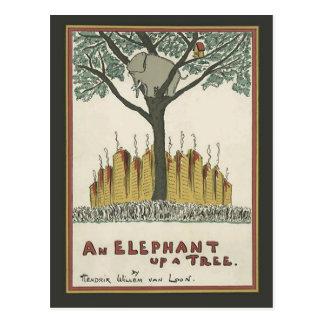 Elephant up a Tree Postcard