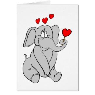 Elephant Valentine Card