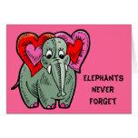 Elephant Valentine Card Card