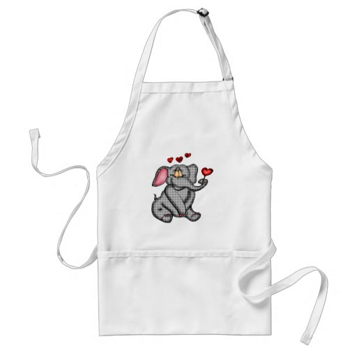 Elephant Valentine T-shirts and Gifts Adult Apron