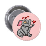 Elephant Valentine T-shirts and Gifts Button