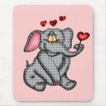 Elephant Valentine T-shirts and Gifts Mouse Pad