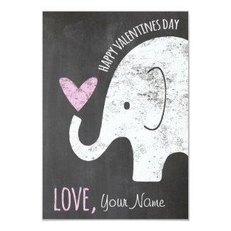 elephant valentines day kids card for classroom - Elephant Valentine