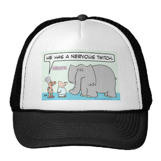 elephant veterinarian nervous twitch hindu trucker hat