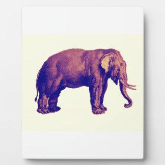 Elephant Vintage Illustration India Animal Antique Display Plaques