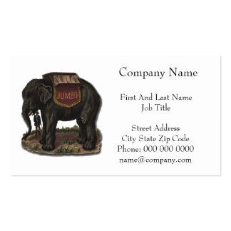 Elephant Vintage Jumbo Card Cutout Double-Sided Standard Business Cards (Pack Of 100)