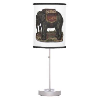 Elephant Vintage Jumbo Card Cutout Desk Lamp