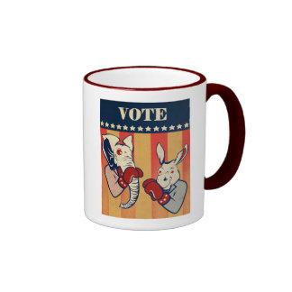 Elephant vs. Donkey Coffee Mug