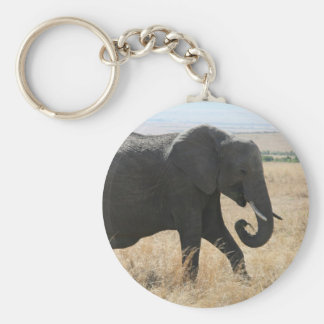 elephant walk basic round button keychain