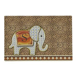 Elephant Walk Cheetah Monogram EWMX Placemat