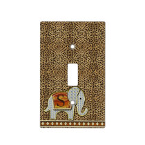 Elephant Walk Monogram Cheetah ID390 Light Switch Cover