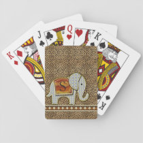 Elephant Walk Monogram Cheetah ID390 Playing Cards