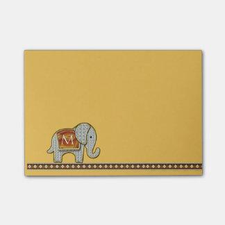 Elephant Walk Monogram Gold Post-it® Notes