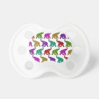 Elephant Walk pattern tiles design Baby Pacifier